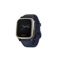 Ceas smartwatch Garmin Venu Sq Music Edition, GPS, Bluetooth, Heart Rate Sensor, Waterproof, 5 ATM, Android, iOS, aluminiu, Gold