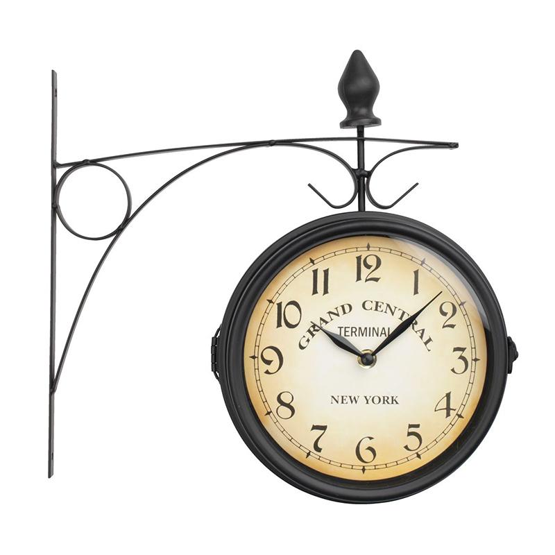 Ceas de perete, 21 cm, sticla/metal, Negru 2021 shopu.ro