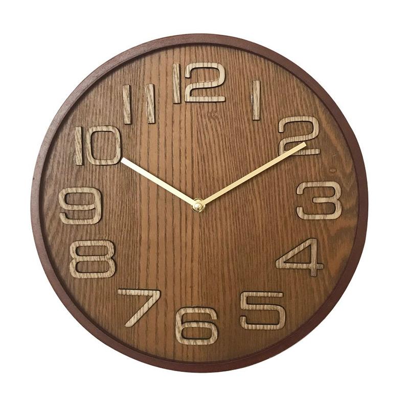 Ceas de perete, 31.5 cm, lemn, Maro 2021 shopu.ro