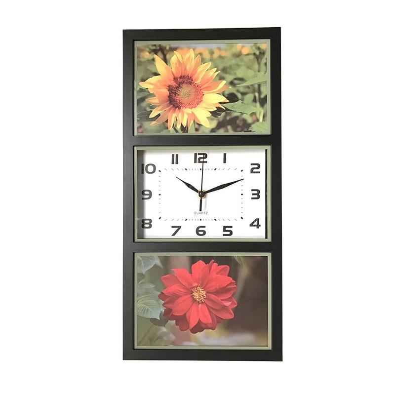 Ceas de perete, 40 x 21 cm, plastic, forma dreptunghiulara, Multicolor 2021 shopu.ro
