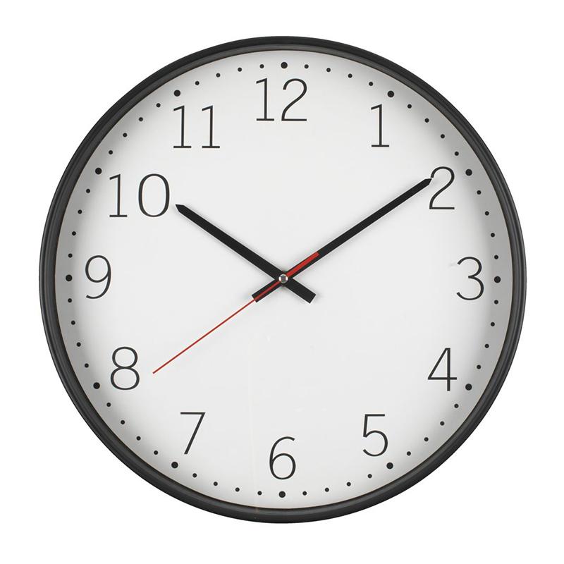 Ceas de perete, 41 cm, hartie/polistiren/polipropilena, Negru/Alb 2021 shopu.ro