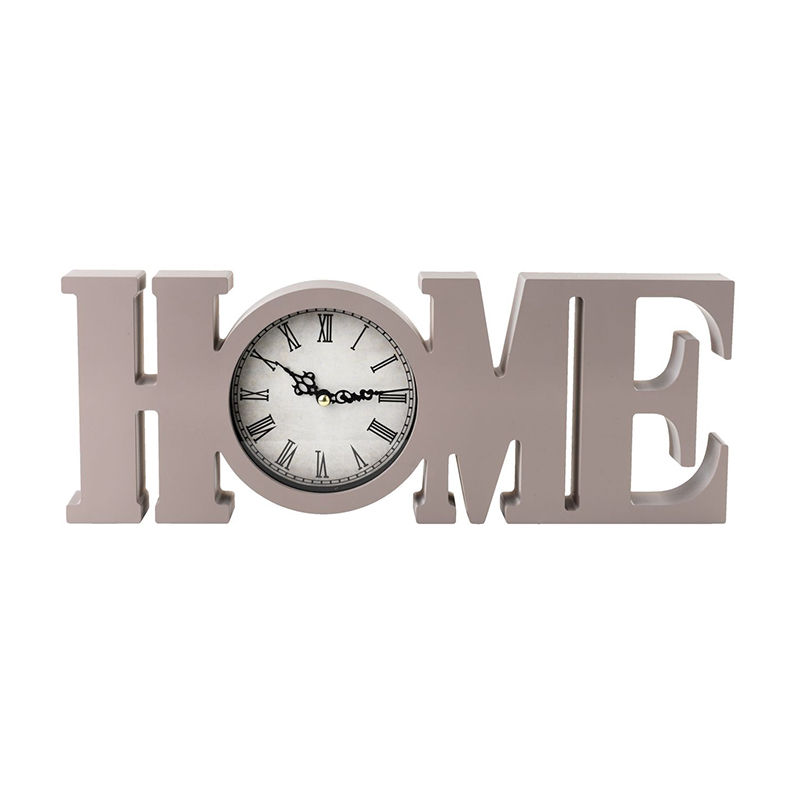 Ceas decorativ, 4 x 39 x 15 cm, polistiren, model home, Gri 2021 shopu.ro