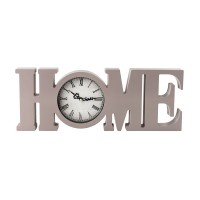 Ceas decorativ, 4 x 39 x 15 cm, polistiren, model home, Gri