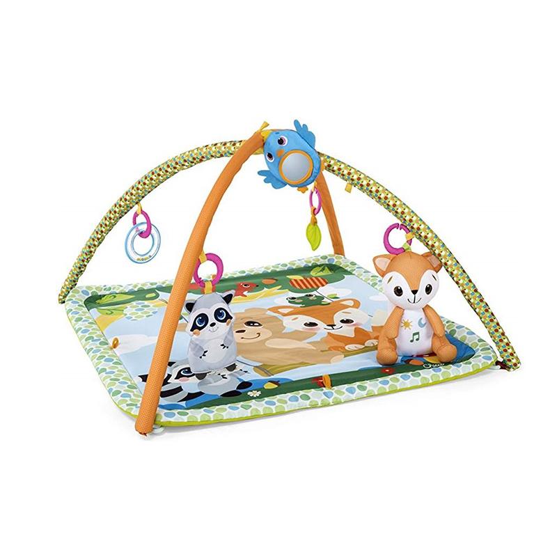 Centru de activitati Magic Forest Relax & Play Gym Chicco, 76 x 76 cm, 5 jucarii detasabile, 0 luni+, Multicolor 2021 shopu.ro