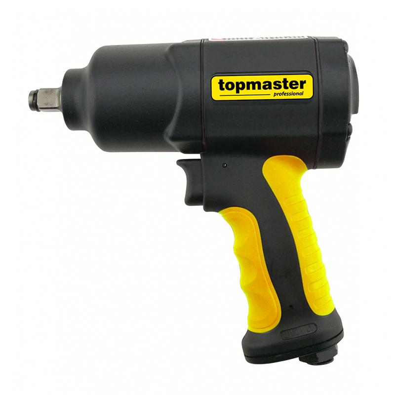 Cheie pneumatica de impact Top Master, 1/2 inch, 6.3 bar, 169 l/min, 1600 Nm, 8500 rpm, maner ergonomic