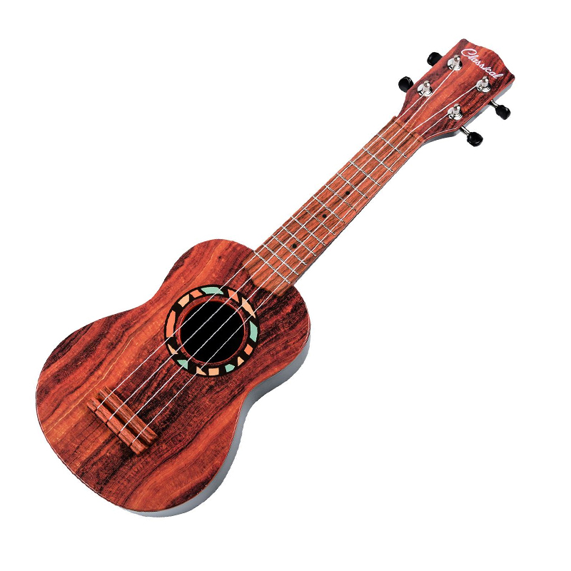 Chitara lemn pentru copii Bird Song, 53 cm, Maro