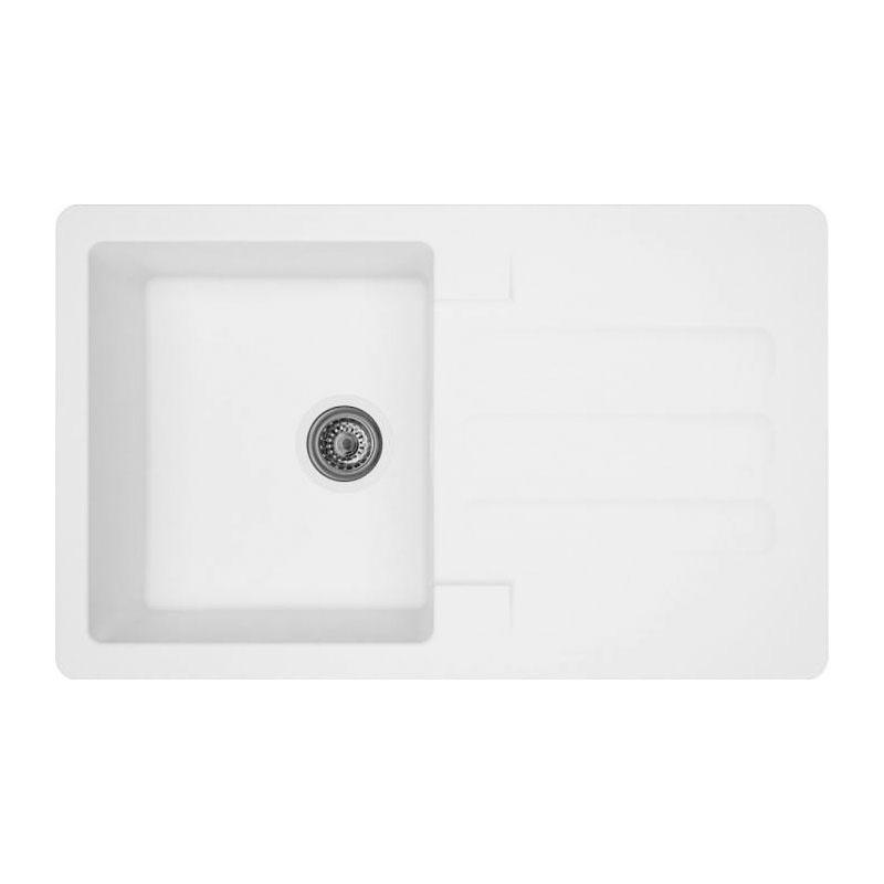 Chiuveta dreptunghiulara pentru bucatarie Marin Alveus, 810 x 500 x 210 mm, material compozit, Alb 2021 shopu.ro