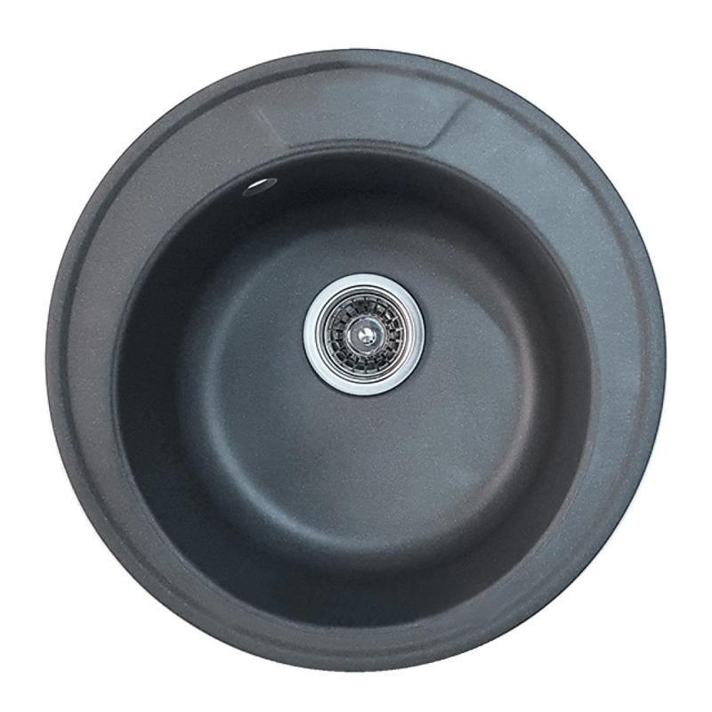 Chiuveta pentru bucatarie Mixxus HB8301-G228, 490 x 180 cm, material compozit granit, Gri 2021 shopu.ro