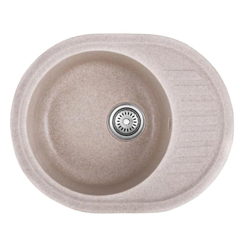Chiuveta pentru bucatarie Mixxus HB8311-G322, 570 x 450 x 180 cm, material granit, Bej 2021 shopu.ro