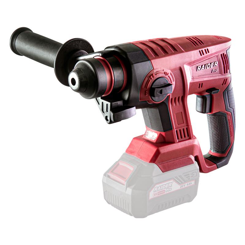 Ciocan rotopercutor Raider, 1420 rpm, 4500 percutii/min, 2.2 J, mandrina SDS-plus, viteza variabila, functie daltuire shopu.ro
