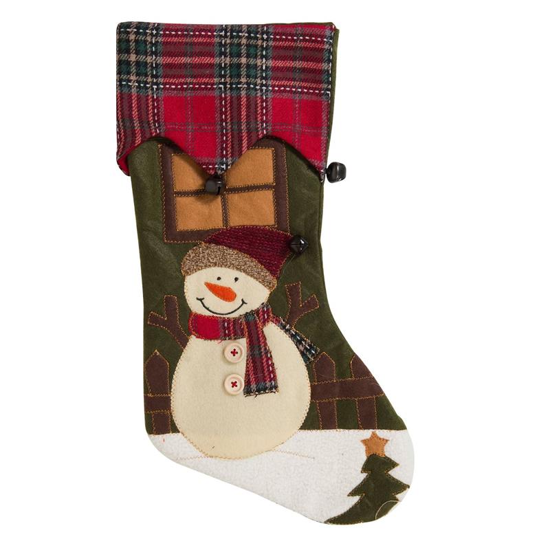 Ciorap pentru cadouri Craciun, 44 cm, model om de zapada shopu.ro