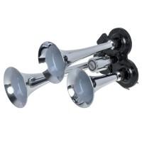 Claxon cromat Automax, 12/24V, 3 pipe
