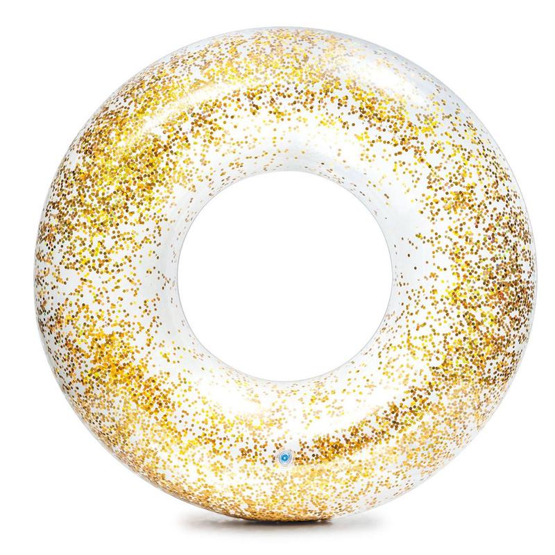Colac inot Transparent Glitter Tube, 119 cm, glitter auriu 2021 shopu.ro