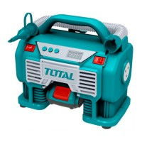 Compresor aer Total, 11 bari, 20 V, 3 x LED, stop automat, display digital, alimentare acumulator Li-Ion