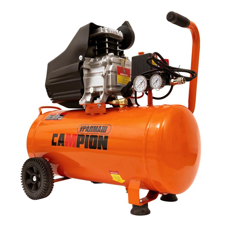 Compresor aer pe ulei Campion, 1800 W, 24 L, 3000 rpm, 200 l/min, 6.5 A 2021 shopu.ro