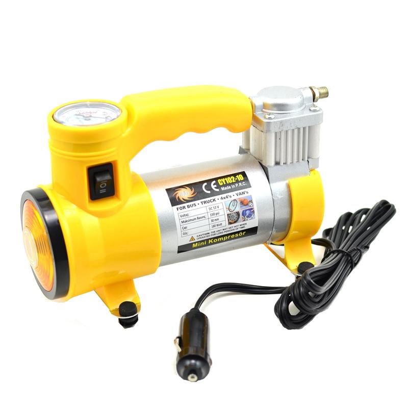 Compresor auto Cyclone, 12 V, 35 l/min, 150 PSI, 10 BAR, lanterna, manometru incorporat 2021 shopu.ro