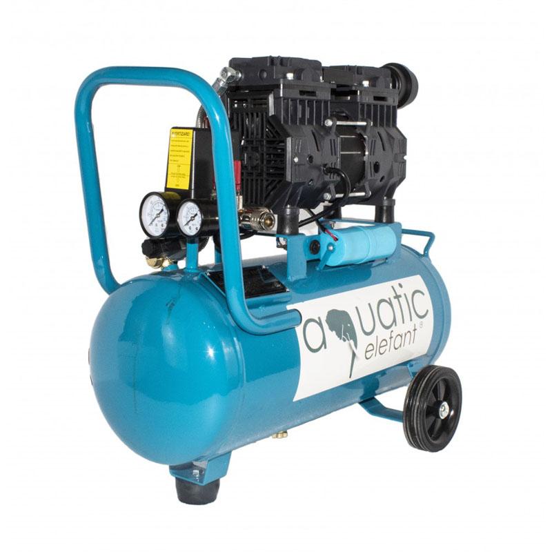 Compresor cu aer Elefant Aquatic XY2824, 1.2 CP, 8 bar, 2650 rpm, 0.2 mc/min, butelie 25 l, filtru hartie 2021 shopu.ro