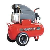 Compresor aer Quartz, 24 l, 2 cp, 8 bar, 125 l/min, Rosu