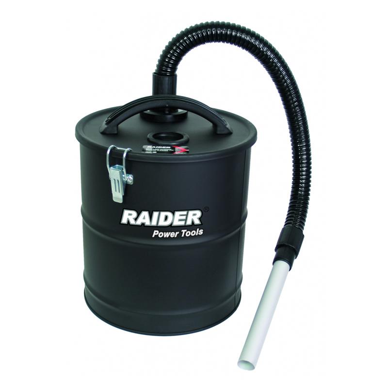 Container metalic pentru aspirare cenusa Raider, 18 l, filtru HEPA shopu.ro