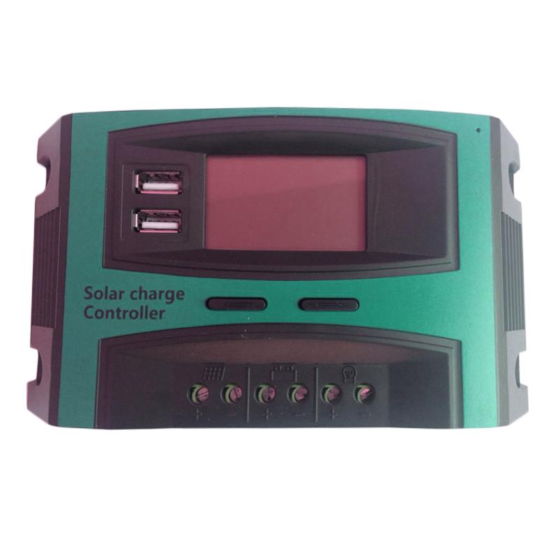 Controller panou solar fotovoltaic Solar Charge, 20 A, 2 x USB, ecran LCD shopu.ro