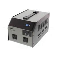 Convertor tensiune Well, 110-220V, 800 W, afisaj LED