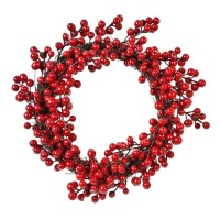 Coronita decorativa de Craciun, 30 cm, model berries poisonous