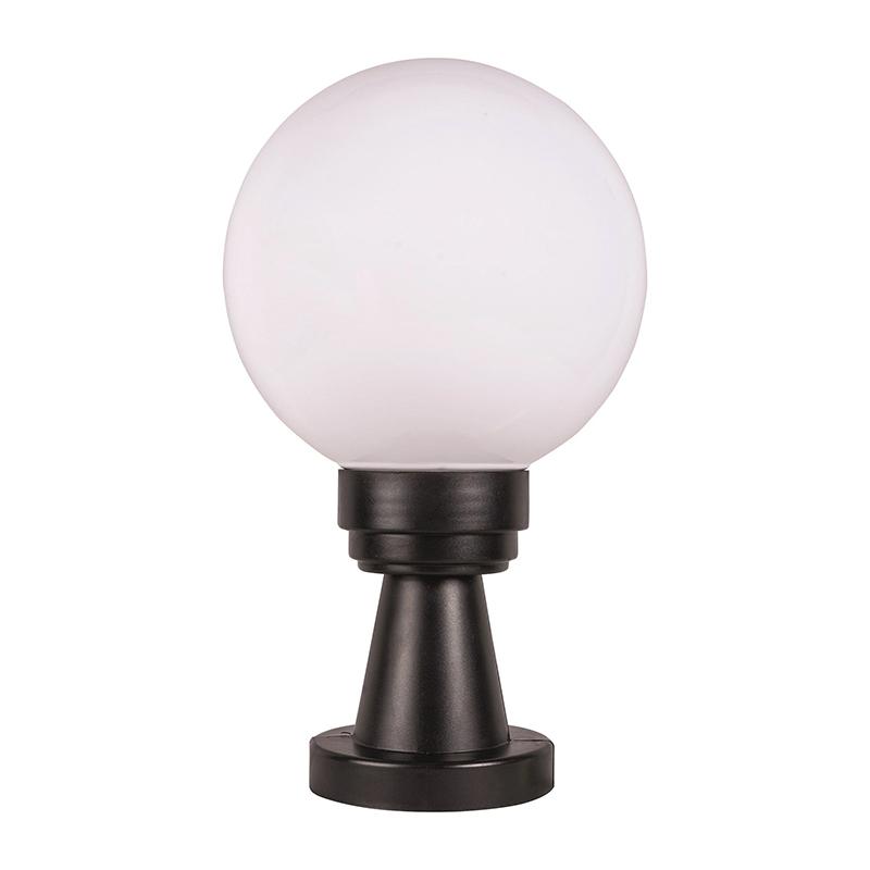 Corp iluminat Luca, 40 W, E27, IP44, plastic, forma sfera, Negru/Alb shopu.ro