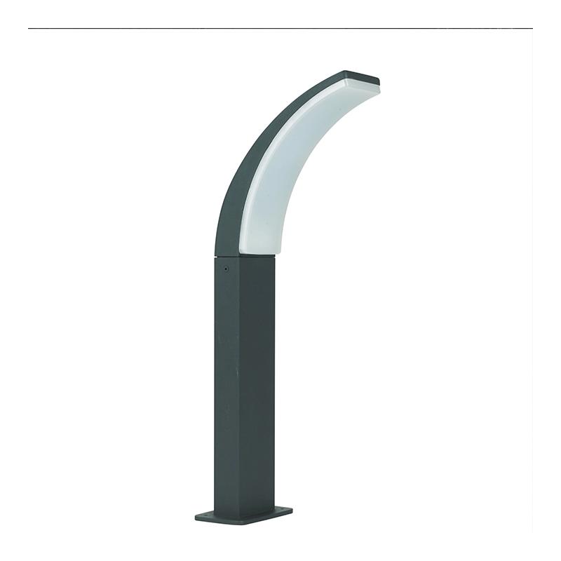 Corp iluminat exterior Lakko, 12 W, 1000 lm, LED integrat, 56 cm, IP44, Negru/Alb shopu.ro