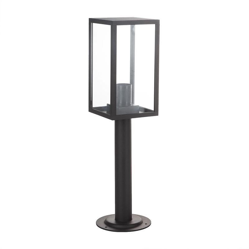 Corp iluminat exterior Malmo, 100 W, E27, IP44, metal/sticla, A++, Negru shopu.ro