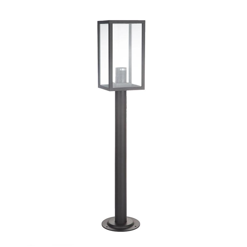 Corp iluminat exterior Malmo, E27, IP44, metal/sticla, A++, Negru shopu.ro