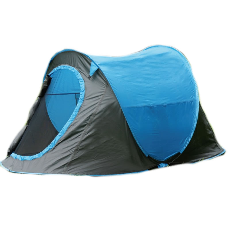 Cort camping 2 persoane Pop-up, poliester, 220 x 120 x 95 cm 2021 shopu.ro