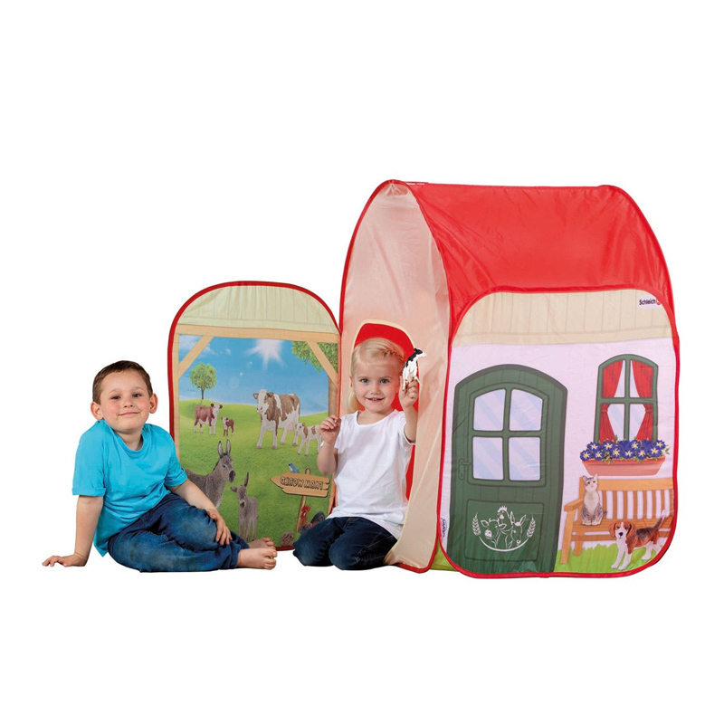 Cort pentru copii Farm World Schleich, 72 x 72 x 105 cm, 3 ani+, Multicolor 2021 shopu.ro