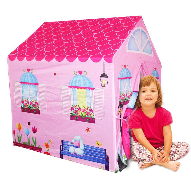 Cort tip casa pentru fetite, 95 x 72 x 102 cm 2021 shopu.ro