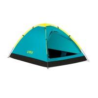 Cort camping Pavillo Cool Dome Bestway, 145 x 205 x 100 cm, poliester, 110 g/m2, 2 persoane, husa transport inclusa, Albastru/Galben
