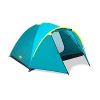 Cort camping Pavillo active ridge Bestway, 210/100 x 240 x 130 cm, poliester, 4 persoane, Albastru/Galben