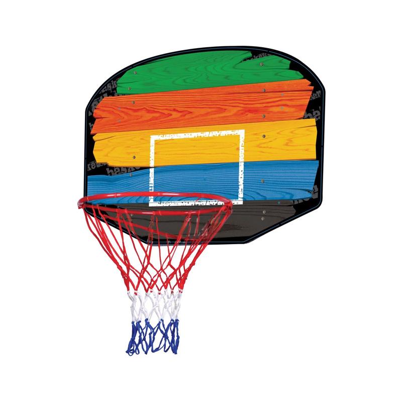 Cos de baschet pentru copii, diametru 45 cm, panou multicolor 2021 shopu.ro