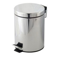 Cos de gunoi Bohmann, 8 litri, Argintiu