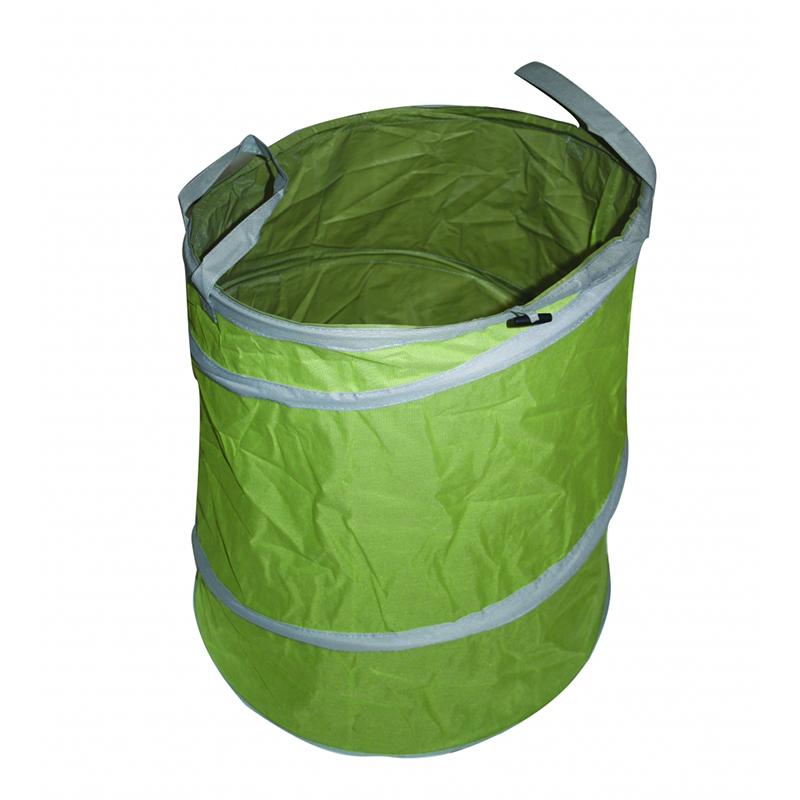 Cos pliabil pentru frunze Top Garden, 92 l, textil 600 D, Verde shopu.ro