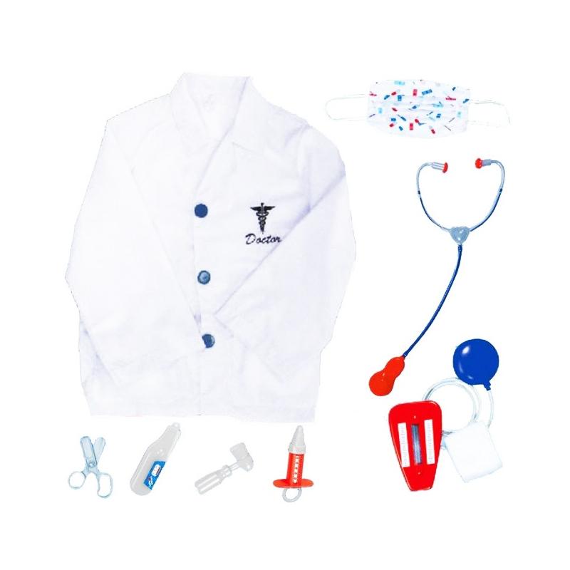 Costum doctor pentru copii, 3-7 ani, accesorii incluse 2021 shopu.ro