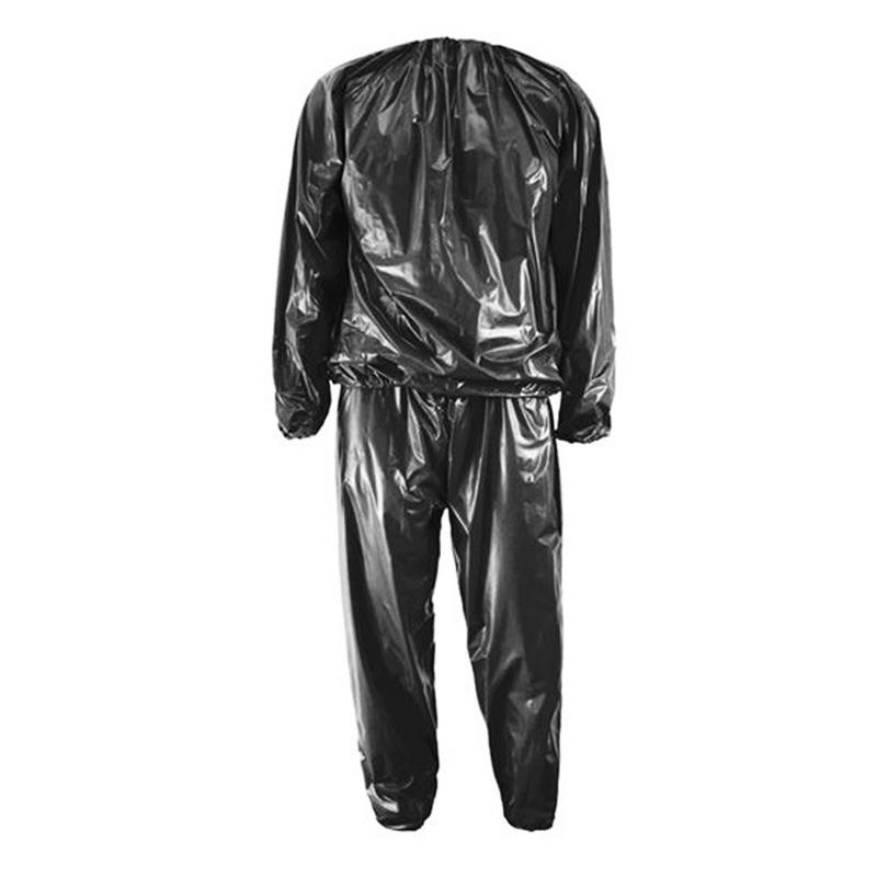 Costum pentru slabit tip sauna HeatOutfit, marime XXL, Negru 2021 shopu.ro