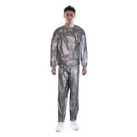 Costum de slabit tip sauna LS3034A, Argintiu