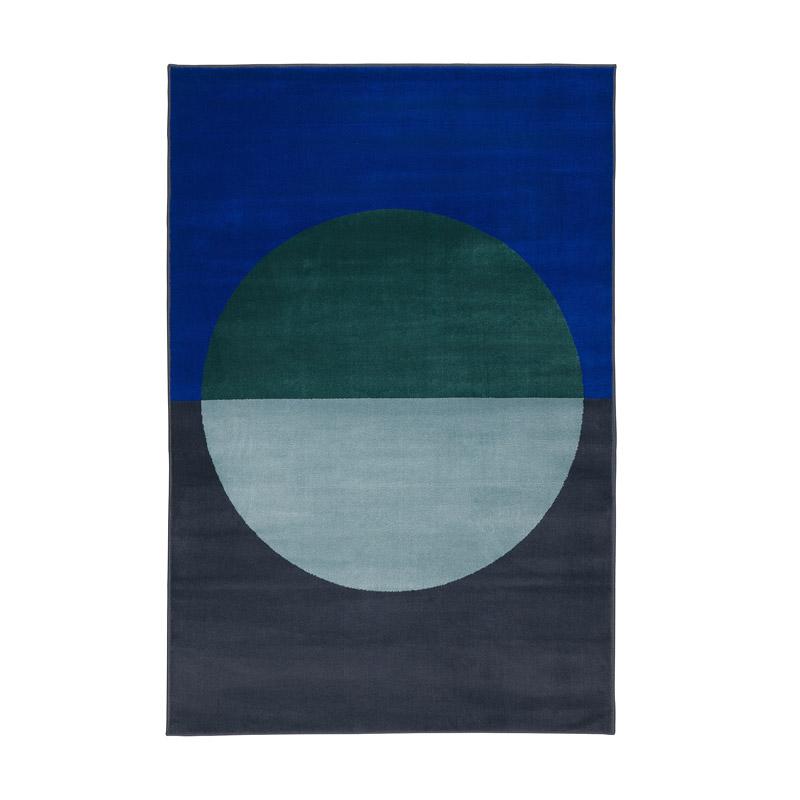 Covor cu fir scurt polipropilena, 195 x 133 cm, albastru shopu.ro