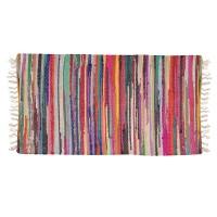 Covor decorativ din tesaturi, 70 x 140 cm, Multicolor