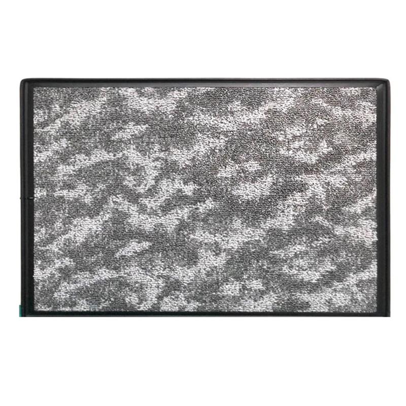 Covor dezinfectant cu tava retentie Metalica Step On, 53 x 49 cm 2021 shopu.ro
