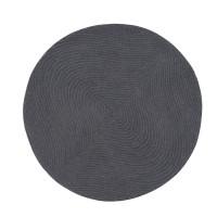 Covor rotund cu fir scurt, diametru 90 cm, gri inchis