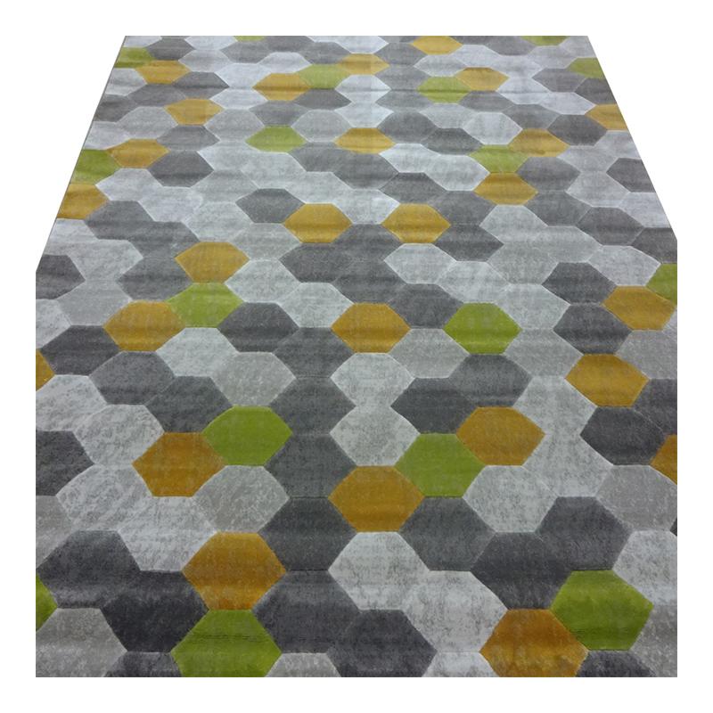 Covor Texture, 120 x 180 cm, polipropilena, model geometric, Multicolor shopu.ro