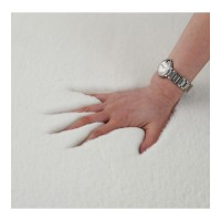 Covor cu blanita Shaggy Heinner, 160 x 230 cm, 2100 g/m2, poliester, spate bumbac, Alb