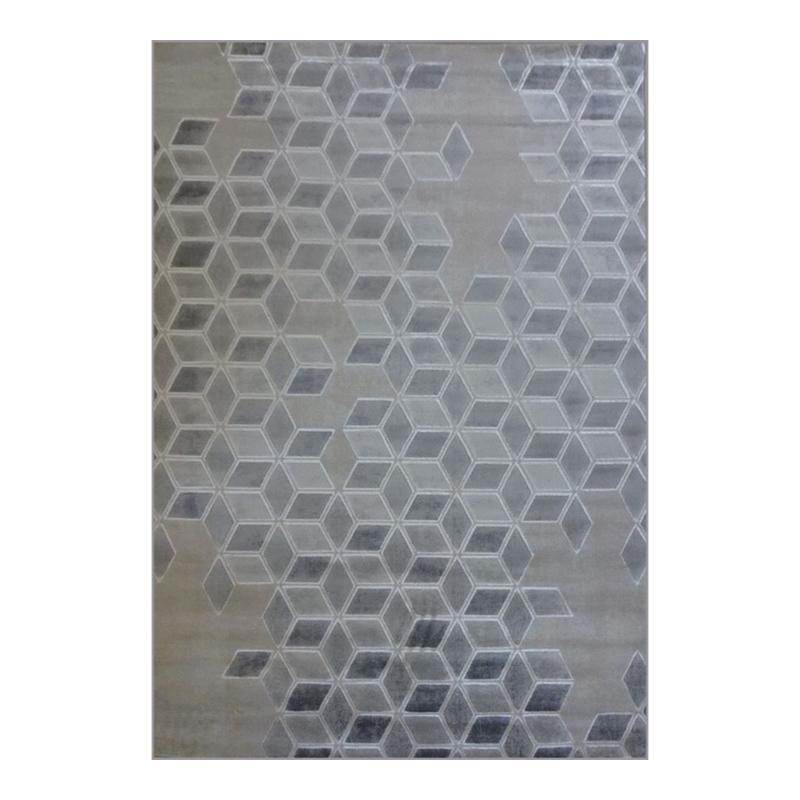 Covor modern Arctic, 80 x 150 cm, polipropilena, model geometric, Gri shopu.ro