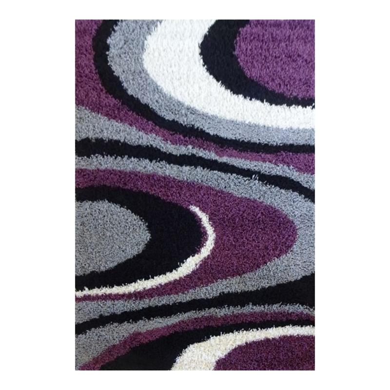 Covor modern Shagy Paris, 120 x 160 cm, polipropilena, rezistent UV, model abstract, Multicolor shopu.ro