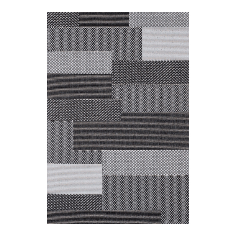 Covor modern Sintelon Adria, 160 x 230 cm, polipropilena, model sisal, Negru/Gri shopu.ro